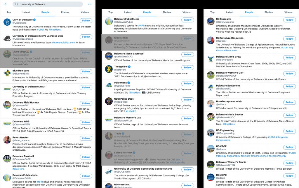 school-social-media-tools-University-of-Delaware-twitter-accounts