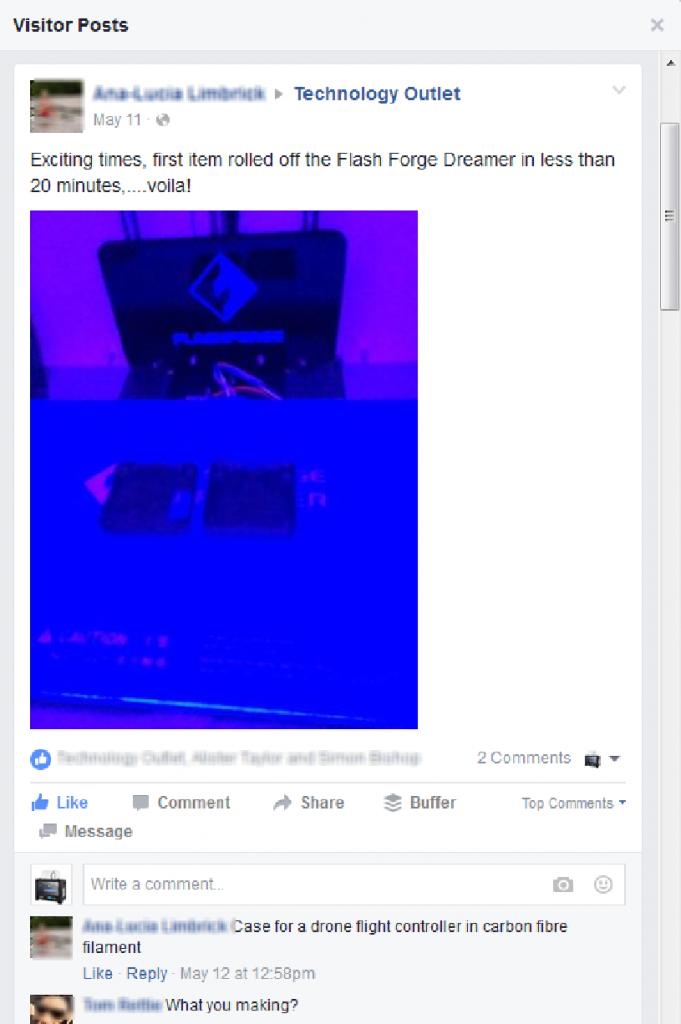 tech outlet facebook engagement