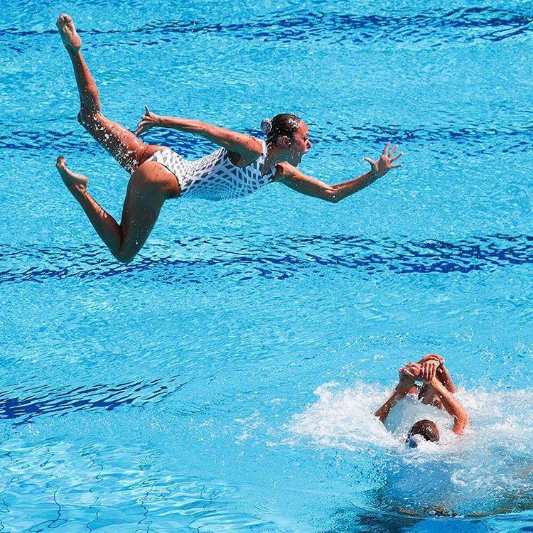 Ukraine's synchronized swimming