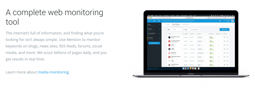 Mention's new landing pages are search engine optimized
