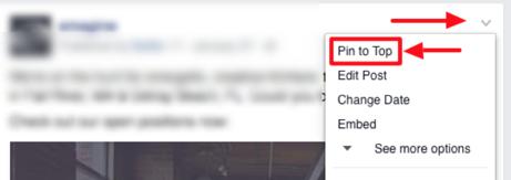 pin facebook post
