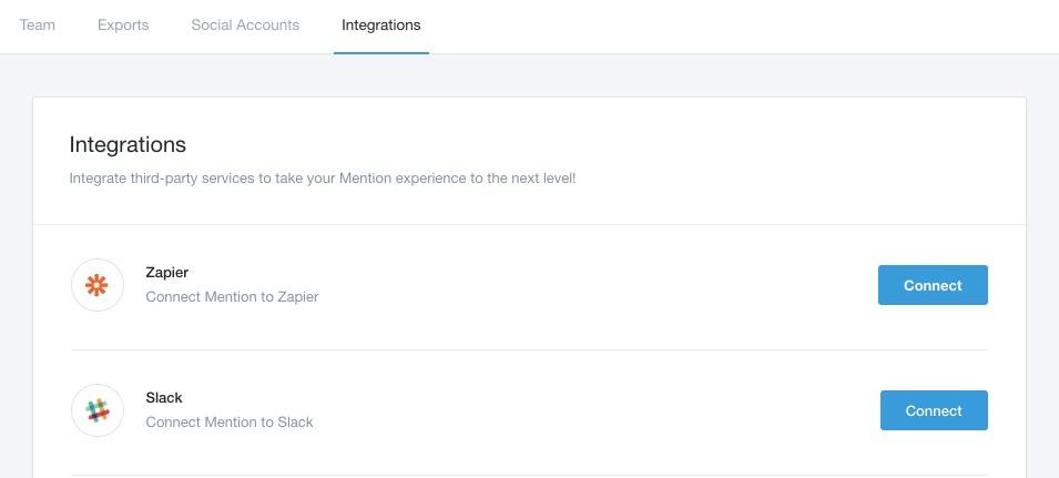 mention zapier integration