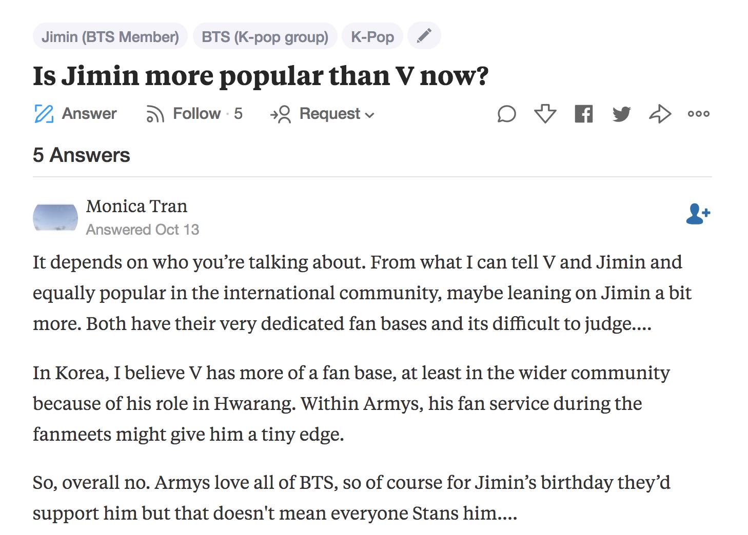 bts jimin popularity