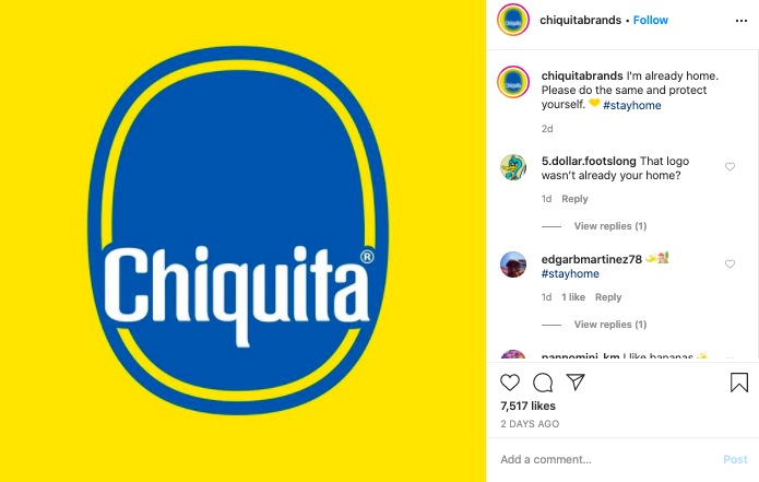 brand-voice-social-distancing-chiquita