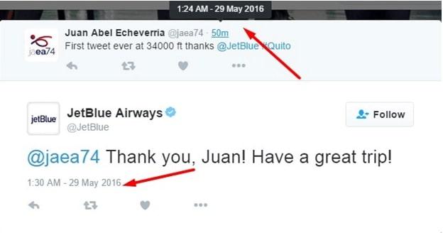 JetBlue auto-response example
