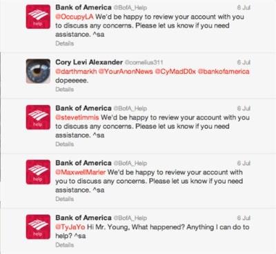 Bank of America Wrong Auto-response