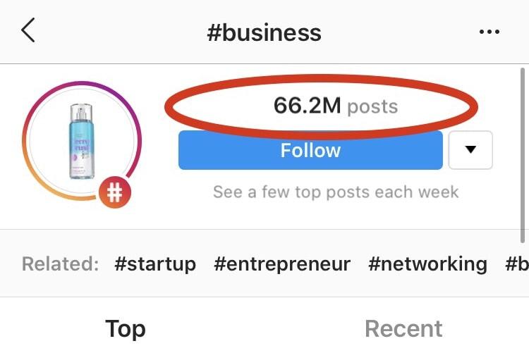 Instagram #business hashtag