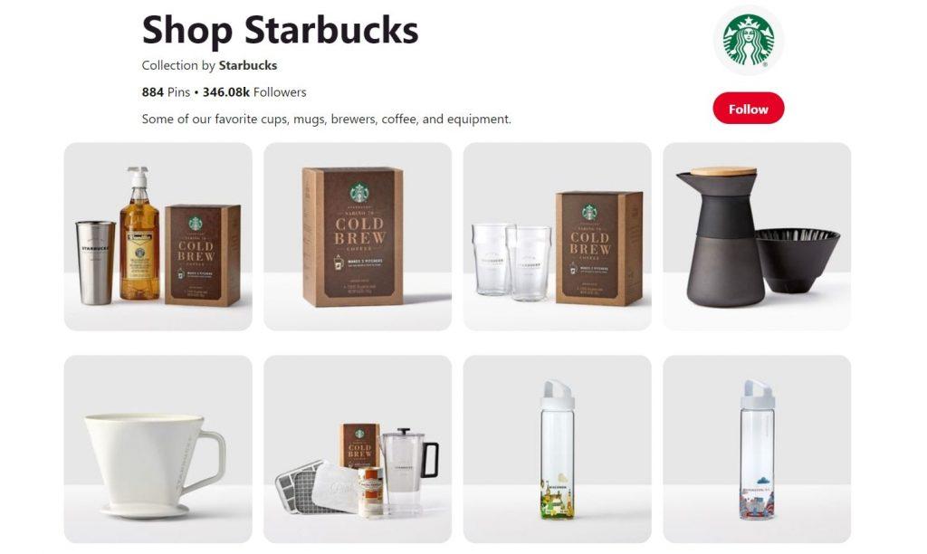 Starbucks Pinterest focus on images