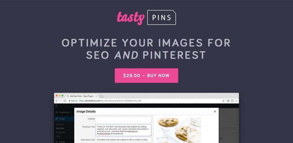 Tasty Pins - SEO tool for Pinterest